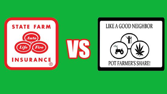 "State Farm Opposes ""Pot Farmers Share"" Parody Logo"