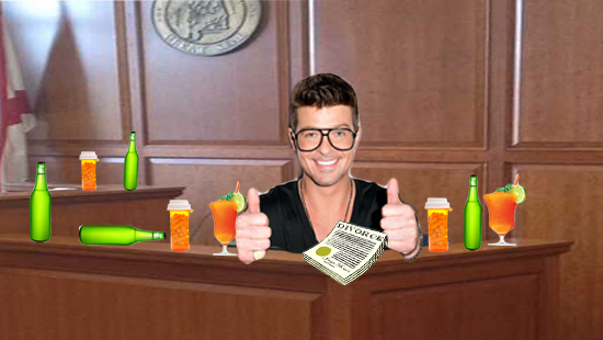 """Robin Thicke: Booze, Drugs & Divorce Caused """"Careless"""" """"Blurred Lines"""" Testimony"""