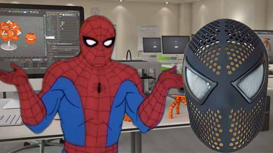 3D Print Your Own Spider-Man Mask But Get in Trouble?