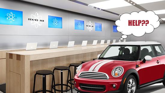 "Apple Causes BMW to Hit the Brakes on the ""Mini Genius""?"