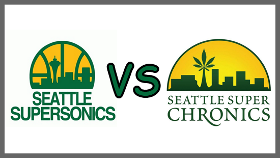 "NBA's SuperSonics Fighting ""Seattle SuperChronics"" Marijuana Cafe"