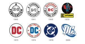 Image of DC logo history