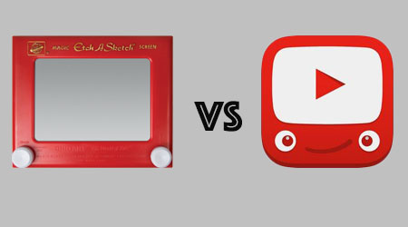 Image of Etch a Sketch and Google