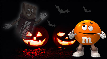 """Hershey and Mars Fight over """"Scary"""" Halloween Candy"""