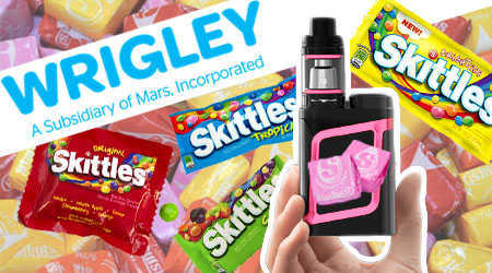 Wrigley Smokes Starburst and Skittles Flavored Vape