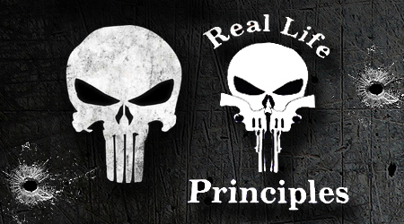 """Marvel Takes Aim at """"Real Life Principles"""" Punisher Look-a-Like Logo"""