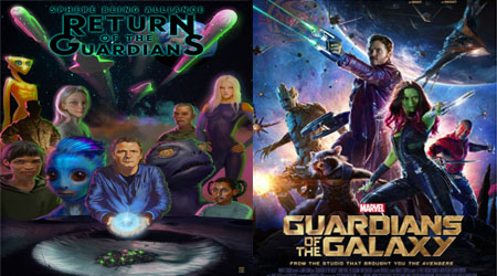 "Marvel Battles Alien Conspiracy Graphic Novel ""Return of the Guardians"""